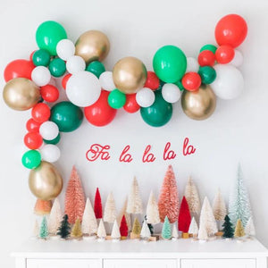 DIY Christmas Balloon Garland Kit