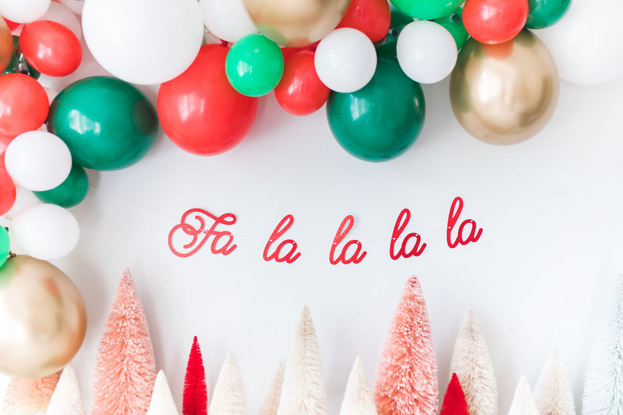 Fa La La Christmas Balloon Garland Kit