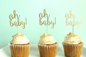 """Oh Baby"" Cupcake Toppers 