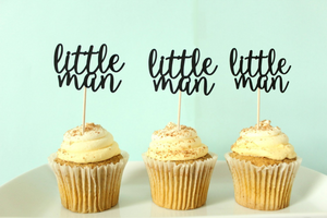 """Little Man"" Cupcake Toppers 
