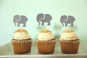 Elephant Cupcake Toppers | Set of 12