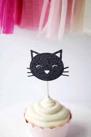 Kitty Cat Cupcake Toppers | Set of 12
