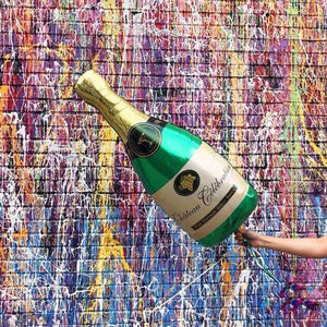Champagne Bottle Mylar Balloon