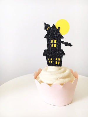 Halloween Cupcake Toppers | Set of 12