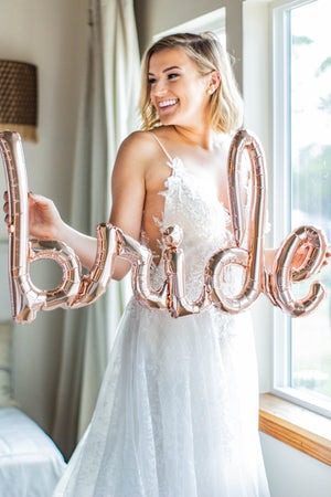 Bride Rose Gold Balloon