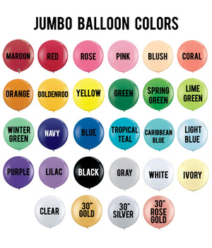 "Giant 36"" Jumbo Color Balloon"