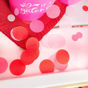 Hot Pink, Red, Pink, Blush Tissue Confetti
