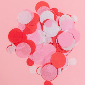Pink, Red, White Tissue Confetti