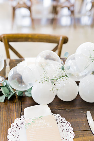DIY White Mini Balloon Garland Kit