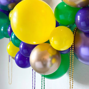 Mardis Gras DIY Balloon Garland Kit