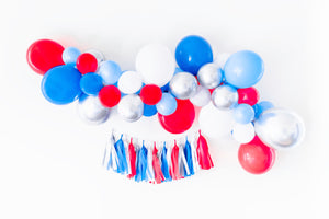 DIY Red, White, & Blue Balloon Garland Kit