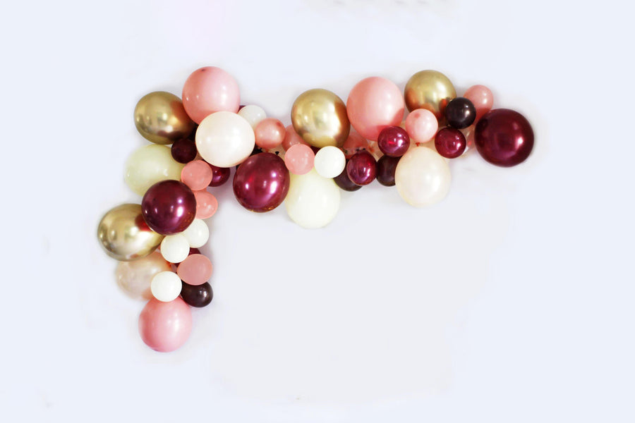 DIY Burgundy Balloon Garland Kit