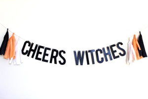 Cheers Witches Halloween Banner