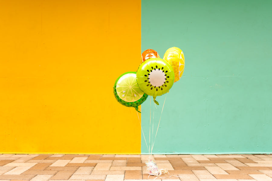 Tropical Fruit Balloons | Watermelon, Lemon, Lime, Orange, Kiwi