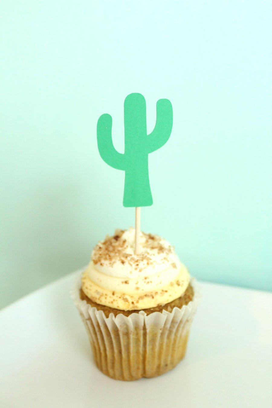 Catcus Fiesta Party Cupcake Toppers | Set of 12