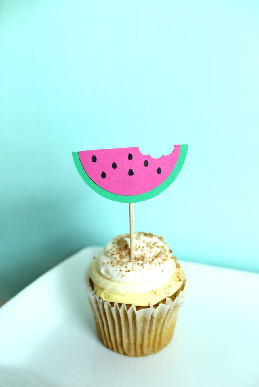 Watermelon Cupcake Toppers | Set of 12