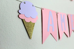 Personalized Ice Cream Banner Garland