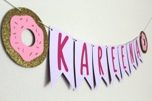 Personalized Donut Garland Banner