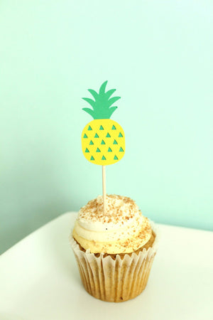 Pineapple Cupcake Toppers | Set of 12