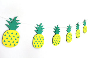 Pineapple Party Decor Banner