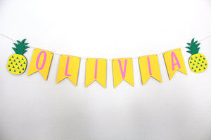 Custom and Personalized Pineapple Party Banner