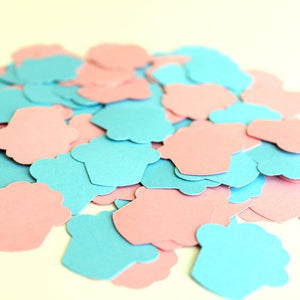 Cupcake Shaped Gender Reveal Confetti