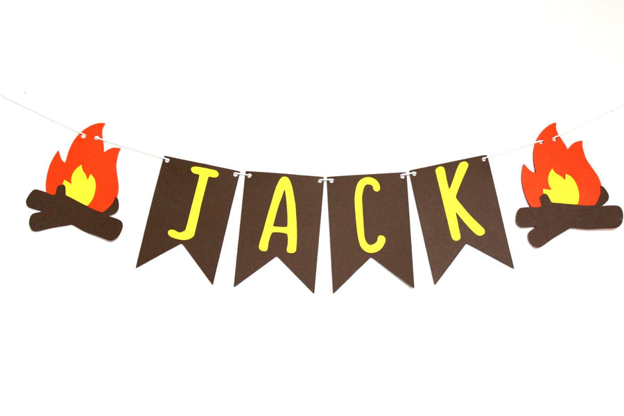 Personalized Camping Party Decor Banner