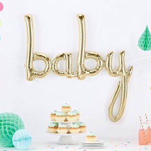 """Baby"" Balloon in Rose Gold, White Gold or Pastel Blue"