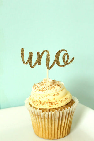 "Fiesta ""Uno"" Cupcake Toppers 