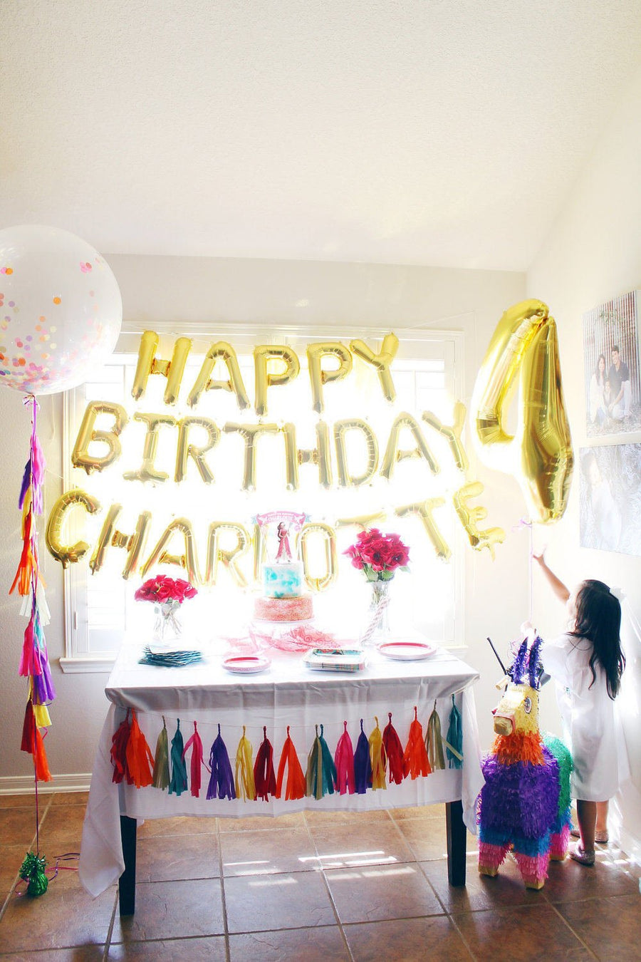 Happy Birthday Personalized Mylar Letter Balloons