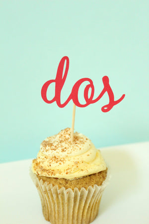 "Fiesta ""dos"" Cupcake Toppers 