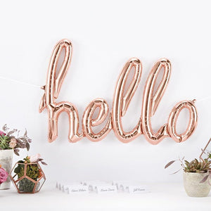 "Rose Gold ""Hello"" Balloon"
