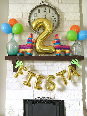 Custom Wording Gold, Silver or Rose Gold Mylar Letter Balloons