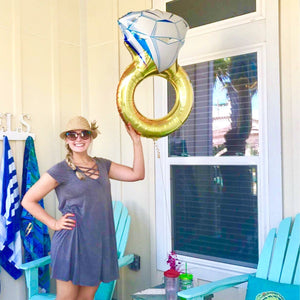 "37"" Diamond Ring Balloon for Engagement Party or Bachelorette"