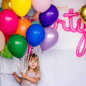 "11"" Latex Colored Birthday Party Balloons 