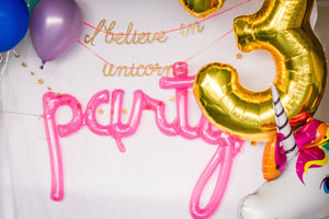 "Pink Translucent ""Party"" Balloon"