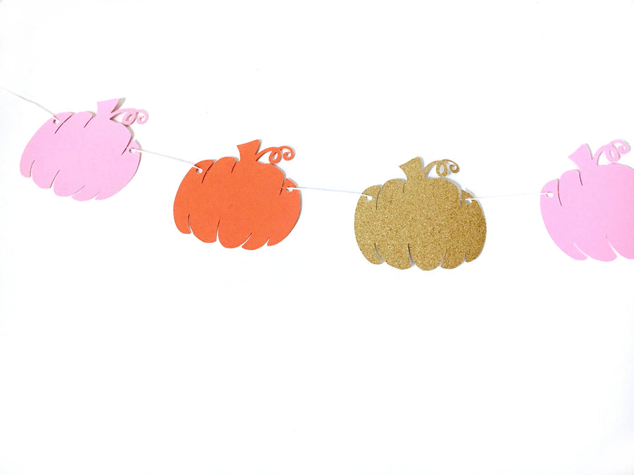 Colorful Pumpkin Party Decor Banner