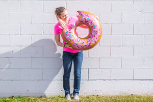 "Jumbo Sized 36"" Donut Balloon with Sprinkle Details"