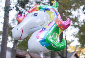 Rainbow Unicorn Balloon Party Decor