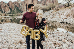 "Mylar Letter Balloons That Spell ""Baby"" 