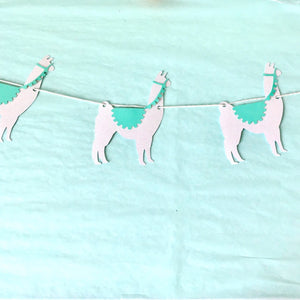 Llama Party Decor Banner