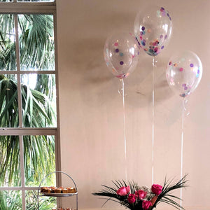 "11"" Confetti Stuffed Balloons 