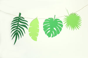 Tropical Leaf Banner Garland
