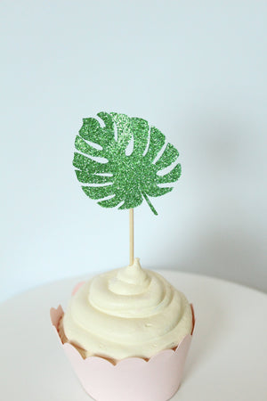 Palm Leaf Cupcake Toppers | Set of 12