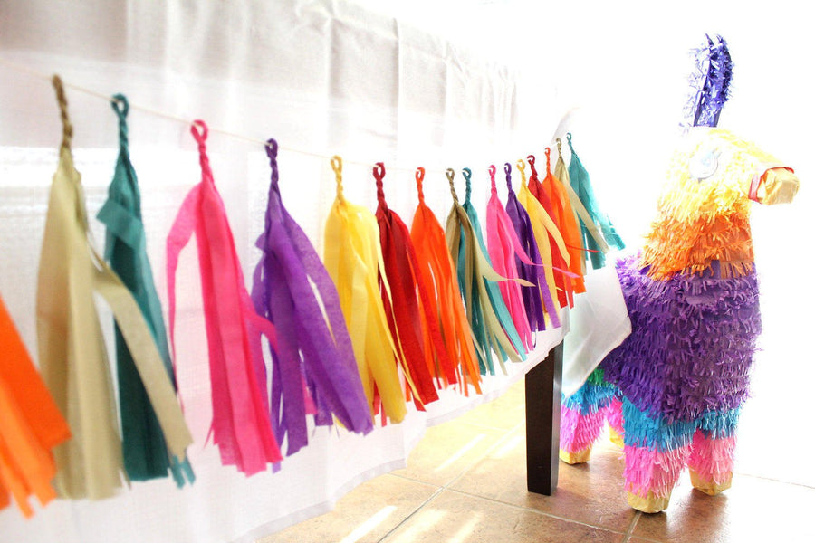 Tissue Tassel Garland | Choose Your Own Colors