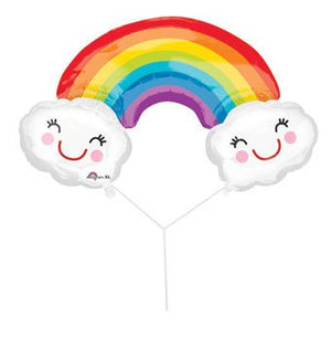 Rainbow with Clouds Balloon