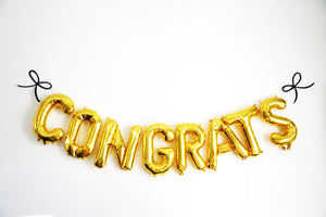 """Congrats"" Balloons for Graduation, Engagement or Wedding Decor"