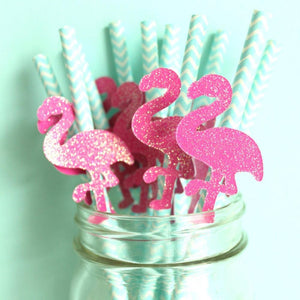 Let's Flamingle Flamingo Straws | Set of 12