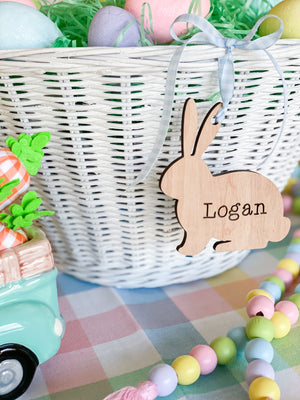 Personalized Wooden Easter Bunny Tag