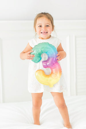 Jelli Rainbow Small Number Balloons